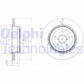DELPHI  BG4287 Bremsscheibe Bremsscheibendicke: 20mm, Lochanzahl: 5, Ø: 316mm