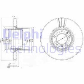 DELPHI  BG9005 Bremsscheibe Bremsscheibendicke: 30mm, Lochanzahl: 5, Ø: 324mm