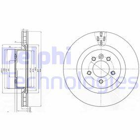 Disco freno (BG9007) per per Termostato LAND ROVER RANGE ROVER SPORT (LS) 3.0 TD V6 4x4 dal Anno 05.2010 211 CV di DELPHI