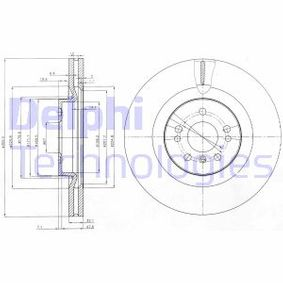 Спирачен диск BG9013 M-класа (W164) ML 320 CDI 3.0 4-matic (164.122) Г.П. 2008