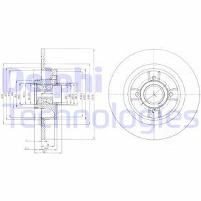 DELPHI Disco de travão BG9029RS com códigos OEM 7701206328