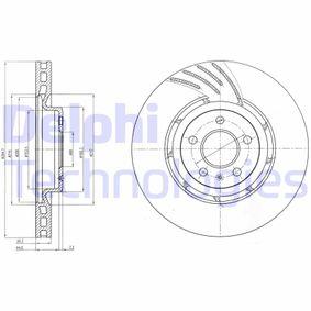 Brake Disc Brake Disc Thickness: 30mm, Ø: 345mm with OEM Number 8K0 615 301 Q