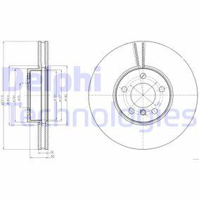 Transductor de Presion BMW X5 (E70) 3.0 d de Año 02.2007 235 CV: Disco de freno (BG9061) para de DELPHI