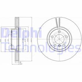 Transductor de Presion BMW X5 (E70) 3.0 d de Año 02.2007 235 CV: Disco de freno (BG9063) para de DELPHI