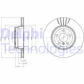 Transductor de Presion BMW X5 (E70) 3.0 d de Año 02.2007 235 CV: Disco de freno (BG9064) para de DELPHI