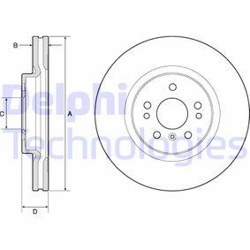 Спирачен диск BG9968 M-класа (W164) ML 320 CDI 3.0 4-matic (164.122) Г.П. 2007