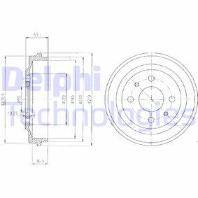 Bremstrommel Trommel-Ø: 219 mit OEM-Nummer 790 833