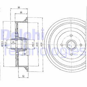 Bremstrommel mit OEM-Nummer 147 501 615 A