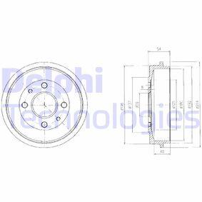 Brake Drum BF200 PUNTO (188) 1.2 16V 80 MY 2002