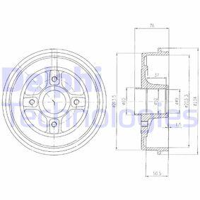 Bremstrommel Trommel-Ø: 234mm mit OEM-Nummer 7700818346