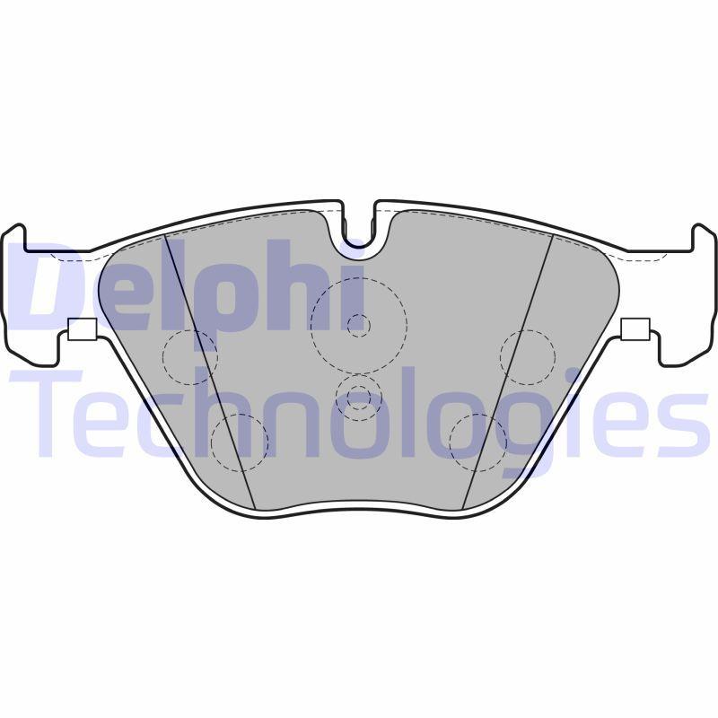 DELPHI  LP2245 Bremsbelagsatz, Scheibenbremse Höhe 2: 68mm, Höhe: 68mm, Dicke/Stärke 1: 19mm, Dicke/Stärke 2: 19mm