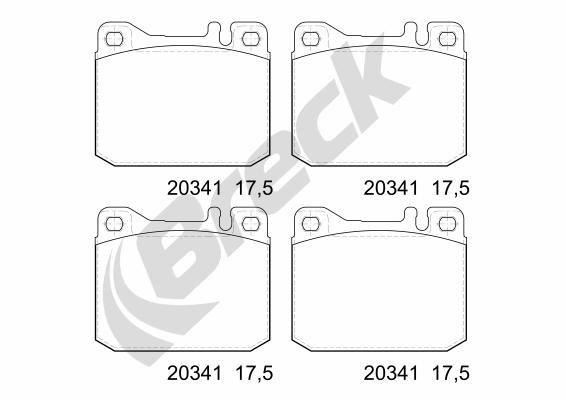 Bremsbeläge 20341 00 701 10 BRECK 20341 00 701 10 in Original Qualität