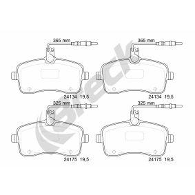 Bremsbelagsatz, Scheibenbremse Höhe: 66,8mm, Dicke/Stärke: 19,5mm mit OEM-Nummer 4254-22