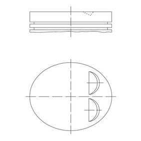 Kolben für OPEL CORSA C (F08, F68) 1.2 75 PS ab Baujahr 09.2000 MAHLE ORIGINAL Kolben (011 84 00) für