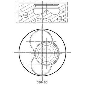 Kolben VW PASSAT Variant (3B6) 1.9 TDI 130 PS ab 11.2000 MAHLE ORIGINAL Kolben (030 86 02) für
