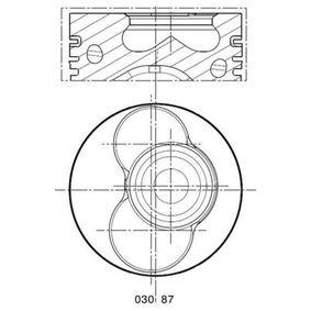 Kolben VW PASSAT Variant (3B6) 1.9 TDI 130 PS ab 11.2000 MAHLE ORIGINAL Kolben (030 87 12) für