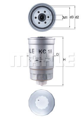 MAHLE ORIGINAL KC 18 EAN:4009026015483 nätaffär