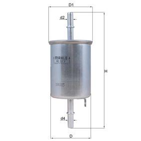 MAHLE ORIGINAL  KL 573 Kraftstofffilter Höhe: 159,5mm