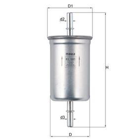 MAHLE ORIGINAL  KL 591 Kraftstofffilter Höhe: 147,0mm