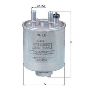 MAHLE ORIGINAL  KL 638 Kraftstofffilter Höhe: 155,0mm