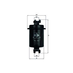 MAHLE ORIGINAL  KL 746 Kraftstofffilter Höhe: 107,5mm