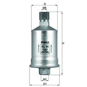 MAHLE ORIGINAL  KL 94 Kraftstofffilter Höhe: 133,0mm
