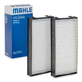 Filter, Innenraumluft Länge: 301mm, Breite: 145, 145,0mm, Höhe: 40mm mit OEM-Nummer 64316945585