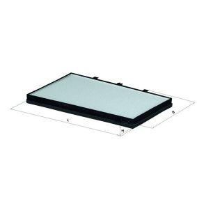 MAHLE ORIGINAL  LA 243 Filter, interior air Width: 272,5mm, Height: 30,0mm