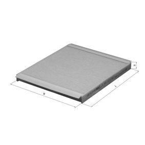 Filtro, aire habitáculo Ancho: 200,0mm, Altura: 20,0mm con OEM número EC 965 396 49