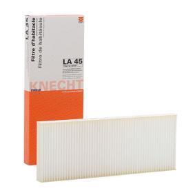 MAHLE ORIGINAL Filter, Innenraumluft LA 45 für AUDI 80 Avant (8C, B4) 2.0 E 16V ab Baujahr 02.1993, 140 PS