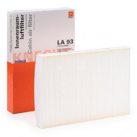 MAHLE ORIGINAL Filter, Innenraumluft LA 93 für AUDI A4 Avant (8E5, B6) 3.0 quattro ab Baujahr 09.2001, 220 PS