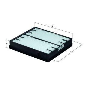 Filter, Innenraumluft Breite: 225,0mm, Höhe: 40,0mm mit OEM-Nummer 1638350247