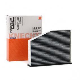 Filter, Innenraumluft Breite: 273,0mm, 285,0mm, Höhe: 57,0mm mit OEM-Nummer 1 K0 819 644 A