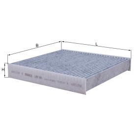 Filter, Innenraumluft Länge: 218mm, Breite: 225mm, Höhe: 35mm mit OEM-Nummer 6447.SZ