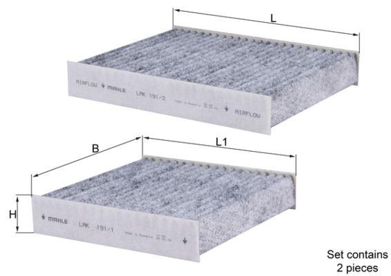 Staubfilter MAHLE ORIGINAL LAK 191/S 4009026509616