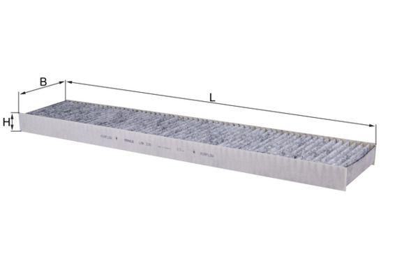 MAHLE ORIGINAL  LAK 226 Filter, Innenraumluft Länge: 536mm, Breite: 110mm, Höhe: 30mm