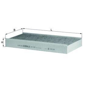 Filter, Innenraumluft Länge: 314mm, Breite: 152mm, Höhe: 40mm mit OEM-Nummer 6441-EJ