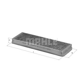 MAHLE ORIGINAL  LAK 38 Filter, Innenraumluft Breite: 114,0mm, Höhe: 29,0mm