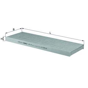 MAHLE ORIGINAL  LAK 49 Filter, Innenraumluft Breite: 145,0mm, Höhe: 25,0mm