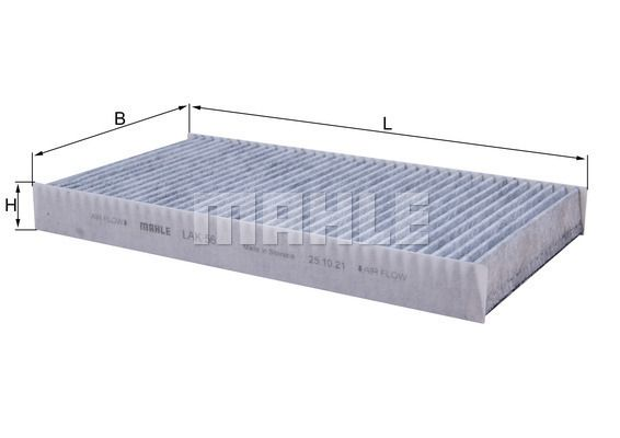 MAHLE ORIGINAL  LAK 56 Filter, Innenraumluft Breite: 160,0mm, Höhe: 30,0mm