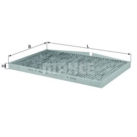 MAHLE ORIGINAL  LAK 58 Filter, Innenraumluft Breite: 212,0mm, Breite: 214,0mm, Höhe: 20,0mm