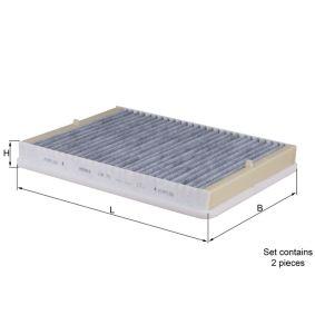 Filter, Innenraumluft Breite: 199,5mm, Höhe: 29,0mm mit OEM-Nummer 64318391198