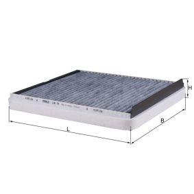 Filter, Innenraumluft Länge: 277mm, Breite: 243mm, Höhe: 40mm mit OEM-Nummer 1718 042