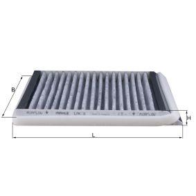 Filter, Innenraumluft Länge: 213mm, Breite: 211mm, Höhe: 20mm mit OEM-Nummer 6447SR