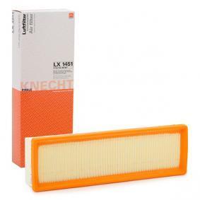 Filtro aria Largh.: 102, 102,0mm, Alt.: 57mm, Lunghezza fuori tutto: 335,0mm, Lunghezza: 102,0mm con OEM Numero 1444VJ
