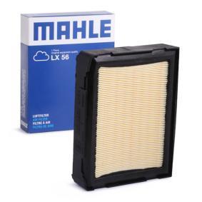 MAHLE ORIGINAL  LX 56 Luftfilter Breite: 164,4mm, Höhe: 42,0mm, Länge über Alles: 210,4mm
