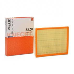 Air Filter Width: 234,5, 235mm, Width 1: 238,0mm, Height: 42mm, Total Length: 294,0mm, Length: 297,0mm with OEM Number 5 834 282