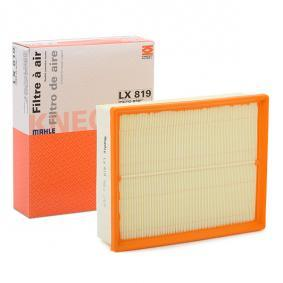 MAHLE ORIGINAL Luftfilter LX 819 für AUDI A4 (8E2, B6) 1.9 TDI ab Baujahr 11.2000, 130 PS