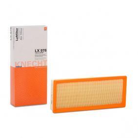 Luftfilter Länge: 143,0mm, Höhe: 50,0mm, Länge über Alles: 340,0mm mit OEM-Nummer 1 216 907