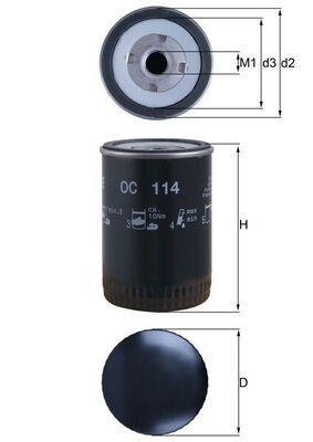 Knecht OC 30 filtro de aceite